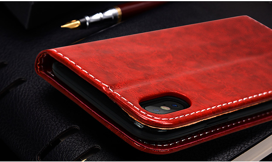 NKOBEE For iPhone X Wallet Case Luxury Case For iPhone X Case Leather Flip Book Cover For iPhone X Stand Case Coque Card Holder (3)