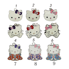 cartoon necklace usb flash drive 4G/8G/16G Kitty Crystal Rhinestone Jewelry u disk pen drive USB2.0 Flash Memory stick Drive(China)