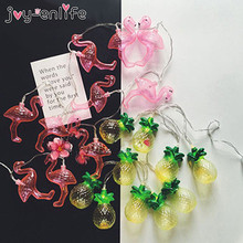 Buy Holiday Light LED Strip Flamingo 10 Lamp Balls/Set LED String Wedding Party Fairy Lights Christmas Decoration for $4.49 in AliExpress store