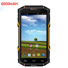 "Original Android Waterproof Phone 6000mAH IP68 Shockproof Rugged Smartphone 1GB RAM 5.0"" phone  MTK6582 Quad Core V4 3G GPS"