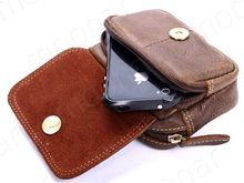 NEW for Men Leather Pouch Phone Pocket Purse Wallet with Belt Fanny Waist Pack Bags *35