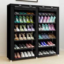 43.3-inch 7-layer 9-grid Non-woven fabrics large shoe rack organizer removable shoe storage for home furniture shoe cabinet(China)