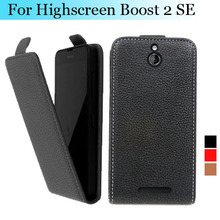 Factory price , Top quality new style flip PU leather case for INNOS D10 open up and down for Highscreen Boost 2 SE, gift