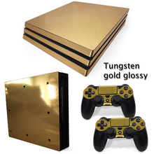 Buy OSTSTICKER Gold Glossy Vinyl Skin Sticker Playstation 4 Pro Sony PS4 Pro Console Controllers Skins Decal for $7.99 in AliExpress store
