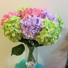 1 pc Artificial Hydrangea Silk Flowers Fake Leaf Bouquet Wedding Bridal Party Home Decor Decoration Supplies