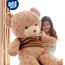 Wedding souvenir Gift life size teddy bear stuffed teddy bear plush toys giant plush bear animals with Knit Vest