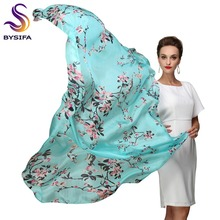 Cachecol Brand Blue Silk Scarf Printed 2015 New Super Large Pure Silk Long Scarves Shawl Winter Ladies Scarves Wraps 180*110cm