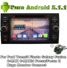2 din android 5.1 quad core car audio dvd black color for Ford Galaxy 2000 - 2009 Ford Kuga 2008-2011 with Rear View Camera
