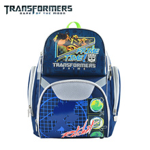 Transformers kids/children cartoon orthopedic  school bag books shoulder backpack portfolio rucksack for boys student grade 1-3