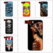 Digital Art Skull Smoke Funny Cover case for iphone 4 4s 5 5s 5c 6 6s plus samsung galaxy S3 S4 mini S5 S6 Note 2 3 4  DE0070