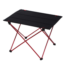 Ultra-light Aluminium Alloy Camping Folding Table Tavel Kit Black Outdoor Portable Table For Travel Fishing Picnic 57X42X40cm
