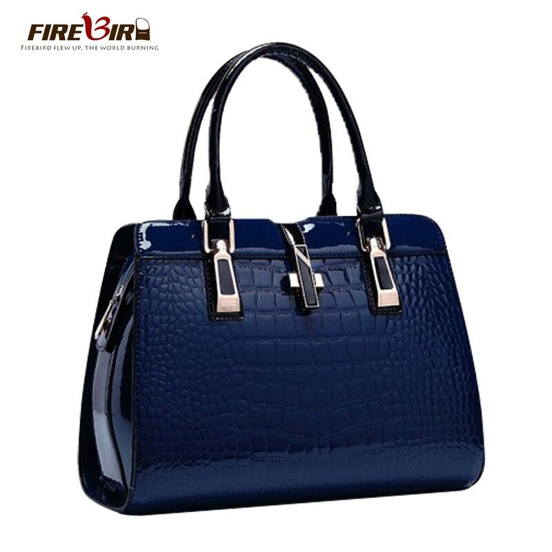 Brand Crocodile designer PU Patent leather women tote bag fashion Women leather handbags Women messenger bags Bolsas H321<br><br>Aliexpress