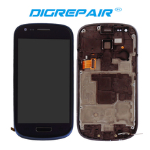 Blue White For Samsung Galaxy S2 I9100 LCD Display touch screen with digitizer Assembly Bezel Frame Free shipping !!!(China)