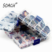 SOACH 50pcsGuitar Picks Set Box Case Acoustic guitar Two Sides Earrings Pick Guitar Accessories For Ukulele Bass Guitar parts