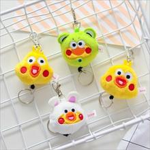 Cute Japan Parrot brother Keychain Animal bag Pendant Fashion Cartoon plush extension Car ornament Toy Jewelry Christmas gift