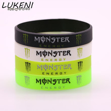 LUKENI Cool Monster Silicone Bracelets for a Gift Fashion Sport Rubber Bracelets Free Shipping Round Shape Rubber Bangle SH062