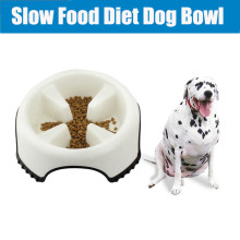 Dog Slow Eating Bowls Plastic Feeding Food Feeder Bebedouro Cachorro Container Provide Pet Food Dish Ainmal Products BBMX586