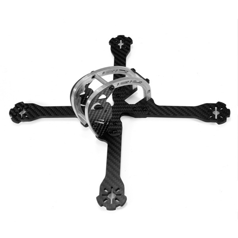 High Quality Realacc D215 215mm Carbon Fiber 4mm Arm FPV Racing X Frame w/ 5V &amp; 12V PDB for Racing and Freestyle Flying<br>