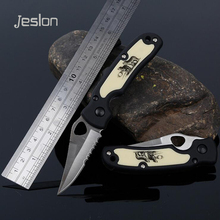 Jeslon Creative Exquisite Mini Folding Knife 440C Blade Portable Survival Camping Knife Outdoor Tactical Hunting Pocket Knives(China)