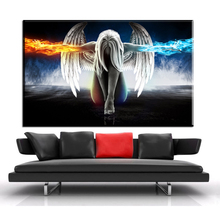 ZZ1932 HD Canvas Wall Art Angel Wings Painting Beautiful Anime Picture for Home Decor Living Room Bedroom Prints(China)
