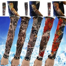 Free shipping New explosion Elastic Fake Temporary Tattoo Sleeve Designs Body Arm Stockings Tatoo for Cool Men Women(China)