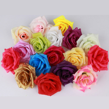 8CM Artificial Fake Silk Rose Flowers Head 100Pcs/lot High Quality Diy for Wedding Party Christmas Flower Ball Ornaments Flowers