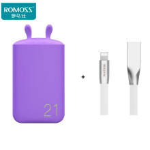 ROMOSS 6000mAh LE06 Lovely Power Bank Portable Emergency External Battery for iphone8 xiaomi mix Huawei P10 Meizu Samsung S8 LG(Hong Kong)