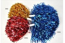 10pcs S M L XL XXL Metallic Cheerleading Pom Poms Aerobics Show Dance Hand Flowers Cheerleader Pompoms for Football Basketball