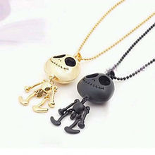 New 1pc Fashion Femal Vintage Jewelry Big Eyes UFO Alien Skull Skeleton Head Pendants Long Sweater Chain Necklaces for Women