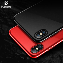 Buy FLOVEME Plating Phone Case iPhone X 7 8 Luxury Ultra Thin Black Red Cases iPhone 7 6 6s 8 Plus Cover Accessories Capinha for $2.89 in AliExpress store