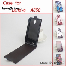 Hongbaiwei 5 Styles Case For Lenovo A850,Luxury Wallet Stand Leather Case For Lenovo A850 With Credit Card Holder Phone Case Ski(China)