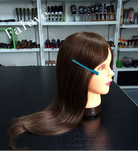 Free Shipping: 100 % Human Hair Mannequin Head For Training In In Guangzhou Professional Manufacturer(China)