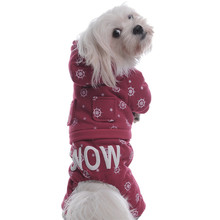 Pet Dog Christmas Snow Cotton Padded Jacket Coats  with Pocket Hat Winter Warm Four-Feet Clothes XS/S/M/L/XL 5 Size 1Pcs