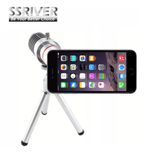 SSRIVER for iPhone 7 Plus 18x Gopro Smartphone Lens 18x Optical Zoom Camera lens Cover Case 18x Zoom lens Tripod Case Lens