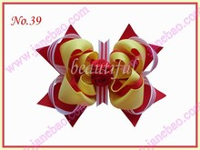 free shipping 25pcs Girls Organza Pony O Bow Ponytail Streamer popular hair bows, hair clips
