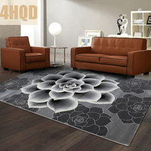 Carpet Trading item Modern Simple Living Room Carpet Bedroom Sofa Coffee Table Carved Rectangle(China)