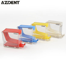 1PC White Red Yellow Blue Color Dental Orthodontic Dentist Cotton Roll Dispenser Holder Press Type Box