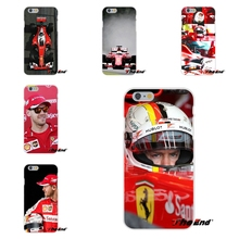 Sebastian Vettel Scuderia Ferrari Slim Silicone Case For iPhone 4 4S 5 5S 5C SE 6 6S 7 Plus Galaxy Grand Core Prime Alpha