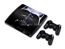 Darth Vader Protective Skin Sticker for PS3 slim console + 2 Pcs Controller Skin Stickers for PS3 Skin
