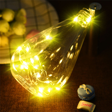 Warm White 20 LED Bright Colorful Bottle Light Kit Fairy Lights Battery Top Wedding Decoration Home Garden Christmas Decor Lamp(China)