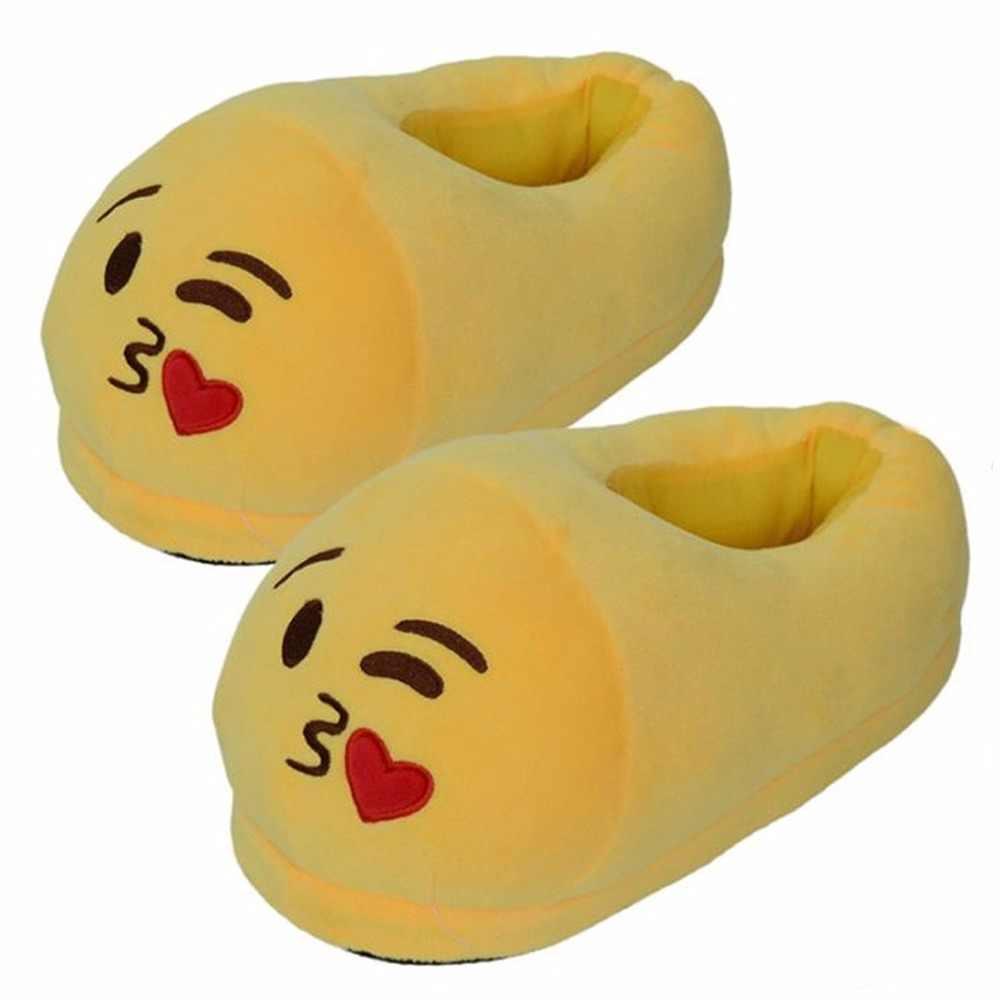 Detail Feedback Questions about Couple Gift Cartoon Plush Emoji Slippers  Winter Soft Men Women Children Indoor Home Shoes Size 35 44 Pantufa  Pantuflas on ...