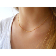 Summer Fashion charm jewelry Simple a copper bead chain Choker Necklace