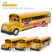 Funny 1:32 scale simulation diecast School bus with light & sound pull back alloy toys open door metal model for children