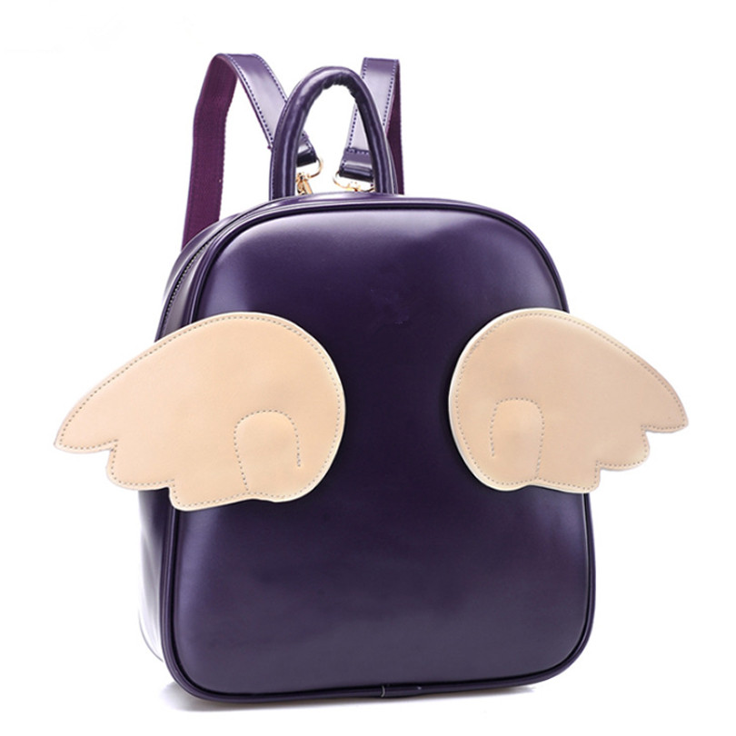 Designer Famous Brands Angel 3 Pairs Wings Women Backpacks Good Quality School Bag For Teenage Girls Leather Mochila Lady<br>