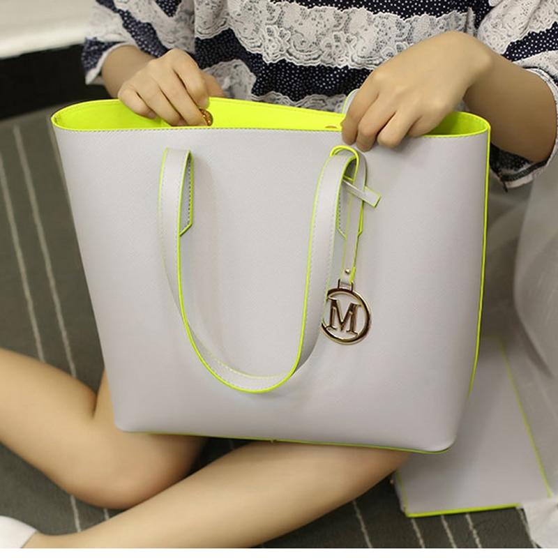 2017 Fashion Women Composite Bag Designer Handbags Woman Leather Bags Handbags Women Famous Brands Shoulder Bag Set Sac<br><br>Aliexpress