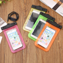 T hanging mobile phone waterproof bag touch screen mobile phone waterproof bag swimming diving waterproof mobile phone cover