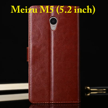 Meizu M5 M 5 Case 5.2 inch Flip Wallet Genuine Leather Cover For Meizu M5 Note With Stand Function Three Card Holder Black Brown
