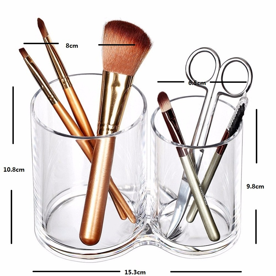 Premium-Quality-Acrylic-Clear-Cotton-Ball-and-Swab-Holder-Organizer-Cosmetic-brush-Holder-Round-Container-Makeup