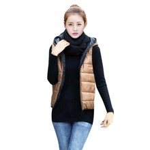 Spring Women Vest Jacket Motorcycle Gilet Warm Vest Casual Thickening Outerwear Hooded Patterns Comfortable Cotton