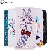 AKABEILA Leather Case For Motorola Moto G4 XT1625 XT1622 XT1624 G4 Plus XT1644 5.5 inch Case Painted Cover Ladies' Cell Phone